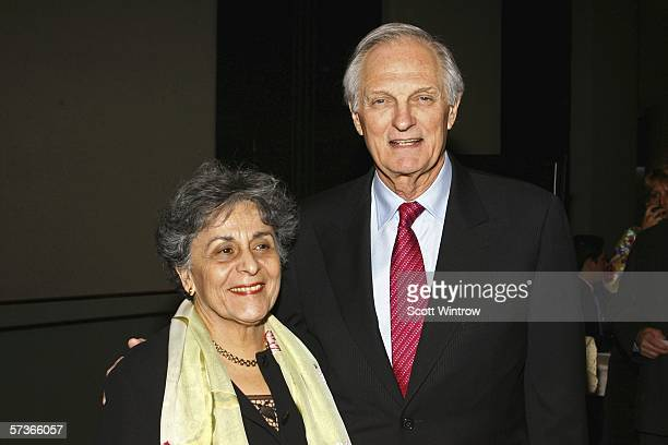 Arlene Alda and Actor Alan Alda The National Italian American Foundation East Coast Gala at the Marriot Marquis Hotel on April 18 2006 in New York NY