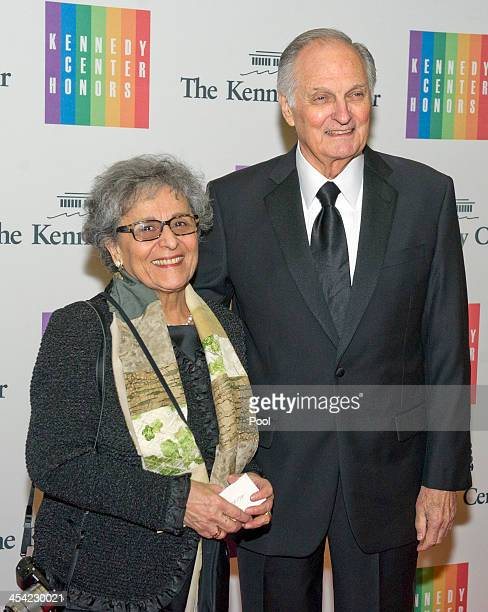 Arlene Alda and Alan Alda arrive at the formal Artist's Dinner honoring the recipients of the 2013 Kennedy Center Honors hosted by United States...