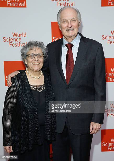 Arlene Alda and Alan Alda attend The World Science Festival 2016 Gala at Jazz at Lincoln Center on May 23 2016 in New York City