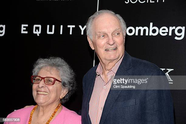 Arlene Alda and Alan Alda attends a Screening of Sony Pictures Classics' Equity hosted by The Cinema Society with Bloomberg Thomas Pink at TBD on...