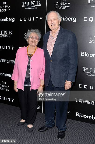 Arlene Alda and Alan Alda attends a Screening of Sony Pictures Classics' 'Equity' hosted by The Cinema Society with Bloomberg Thomas Pink at TBD on...