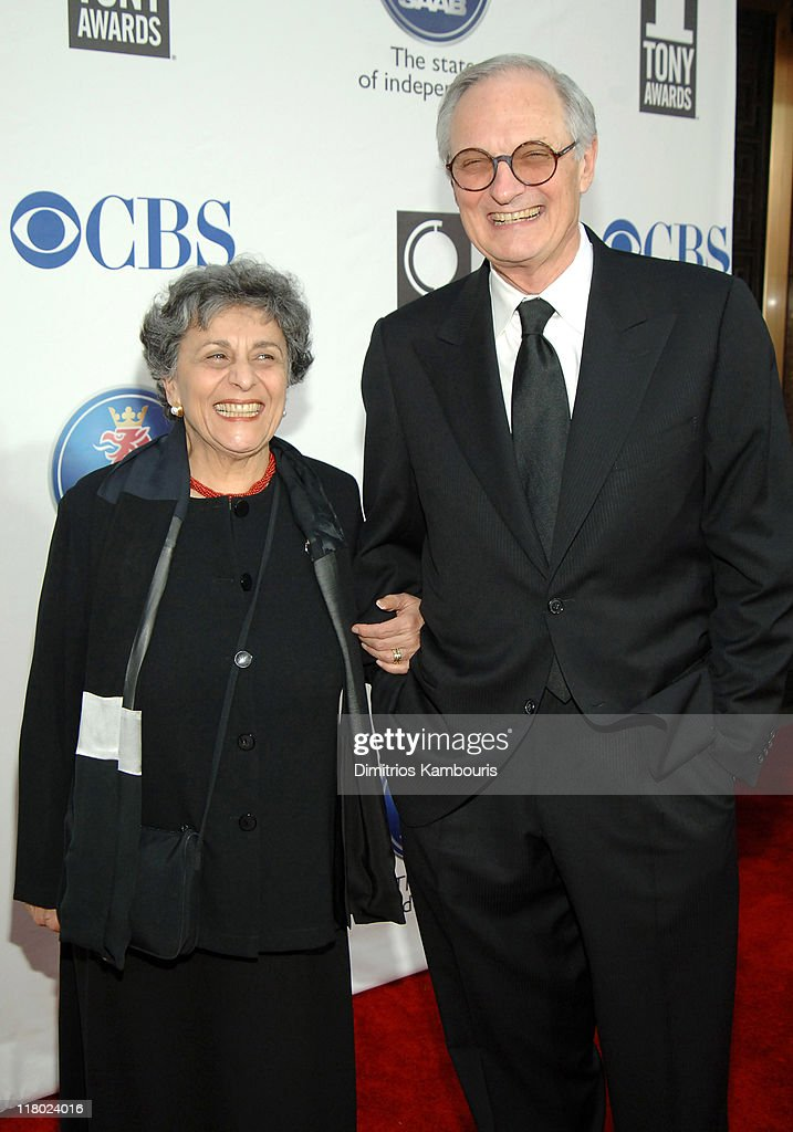 Arlene Alda and Alan Alda, nominee Best Performance by a Featured Actor in a Play for 'Glengarry Glen Ross'