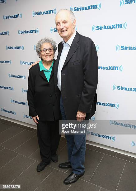 Arlene Alda and Alan Alda visit at SiriusXM Studios on May 24 2016 in New York City