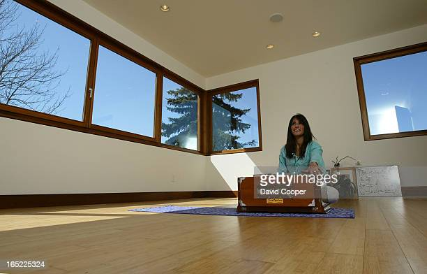 Arlene Barlin in her family Yoga room More and more people are putting rooms in their houses where they can go to relax Arelene's husband who is an...