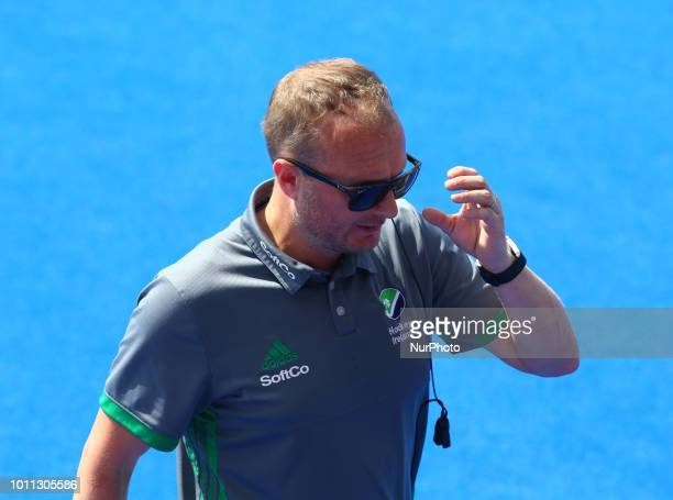 Arlene Boyles Coach of Ireland during FIH Hockey Women's World Cup 2018 Day 13 match Semi Final game 34 between Ireland and Spain at Lee Valley...