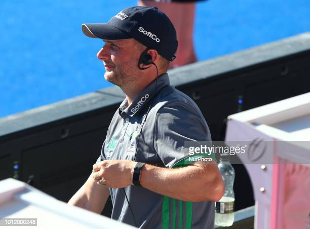 Arlene Boyles Coach of Ireland during FIH Hockey Women's World Cup 2018 Day 14 match Final game 36 between Netherlands and Ireland at Lee Valley...