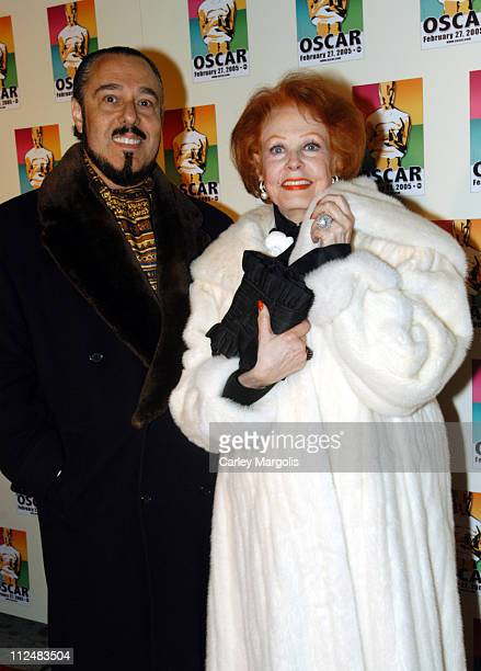 Arlene Dahl and guest during Official 2005 Academy of Motion Picture Arts Sciences Oscar Night Party at Gabriel's at Gabriel's Restaurant and Bar in...