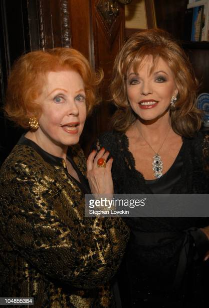Arlene Dahl and Joan Collins during Official 2003 Academy of Motion Picture Arts and Sciences Oscar Night Party at Le Cirque 2000 at Le Cirque 2000...