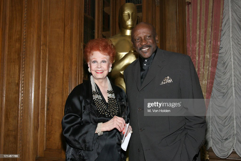 Arlene Dahl and Lou Gossip Jr. during The 78th Annual Academy Awards Official New York Party at St. Regis Hotel in New York City, New York, United States.