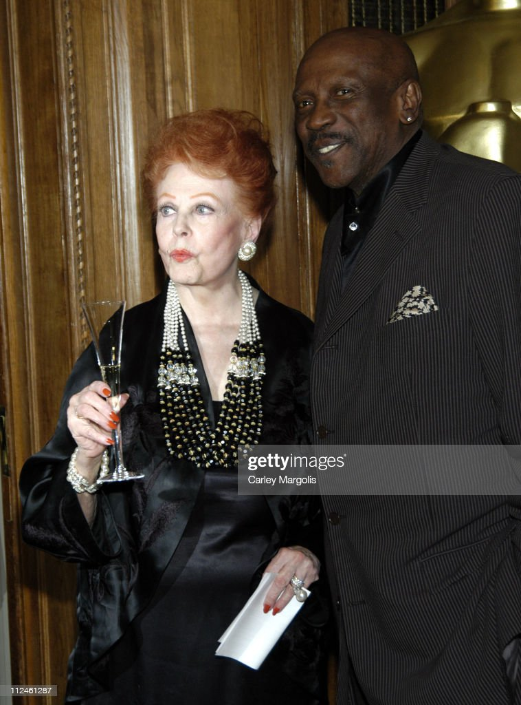 Arlene Dahl and Louis Gossett Jr. during The Academy of Motion Picture Arts and Sciences Official New York Oscar Night 2006 Celebration at St. Regis Hotel in New York City, New York, United States.