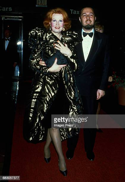 Arlene Dahl and Marc Rosen at the Moda Italia Gala promoting Italian trade circa 1989 in New York City