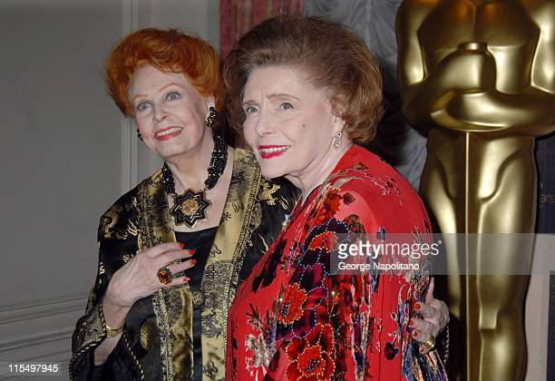 Arlene Dahl and Patricia Neal during The Academy of Motion Picture Arts and Sciences Official New York 2007 Oscar Party at St Regis Hotel in New York...