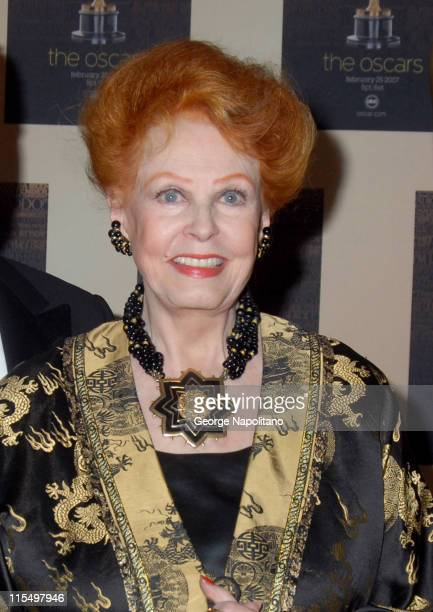 Arlene Dahl during The Academy of Motion Picture Arts and Sciences Official New York 2007 Oscar Party at St Regis Hotel in New York City New York...