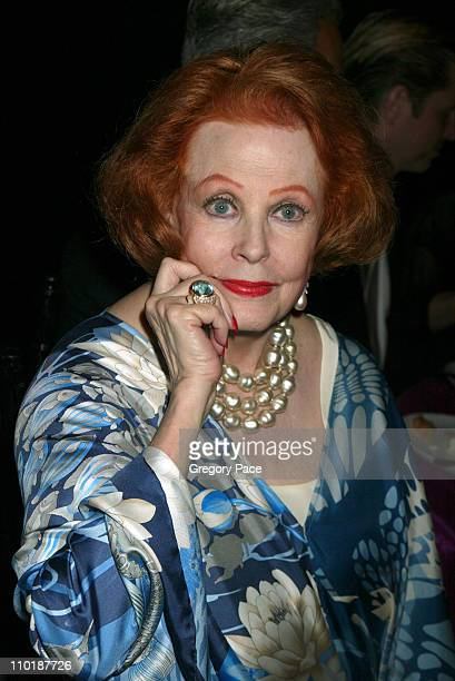 Arlene Dahl during The Fragrance Foundation's 32nd Annual 'Fifi' Awards Inside Party at Hammerstein Ballroom in New York City New York United States