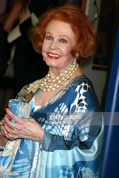 Arlene Dahl during The Fragrance Foundation's 32nd Annual 'Fifi' Awards Arrivals at Hammerstein Ballroom in New York City New York United States