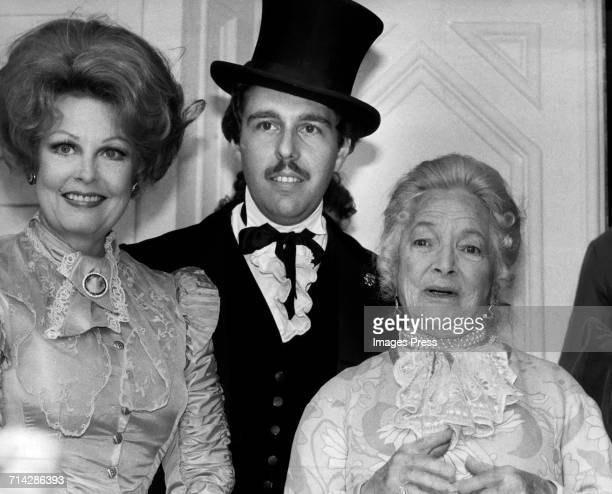 Arlene Dahl her husband Marc Rosen and Helen Hayes circa 1979 in New York City