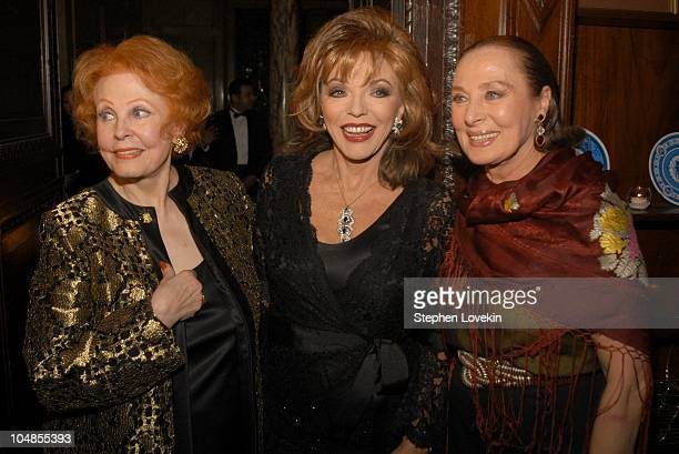 Arlene Dahl Joan Collins and Rita Gam during Official 2003 Academy of Motion Picture Arts and Sciences Oscar Night Party at Le Cirque 2000 at Le...