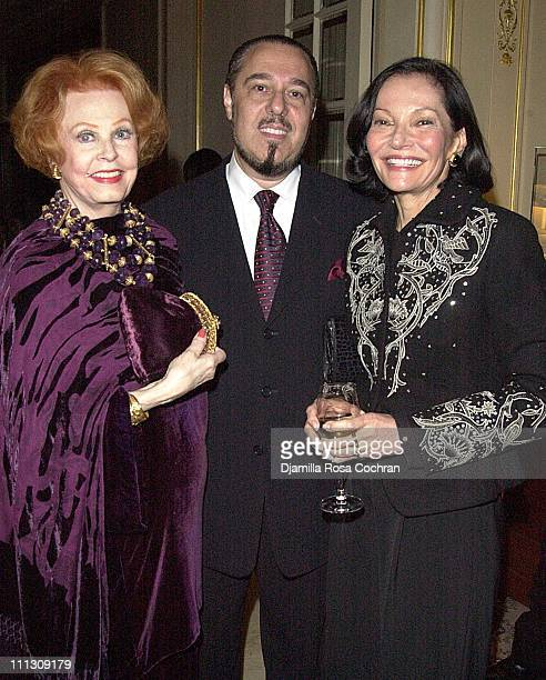 Arlene Dahl Marc Rosen and Judy Price during Chopard Launches the Golden Diamonds Collection at Lespinasse at Lespinasse in New York City New York...
