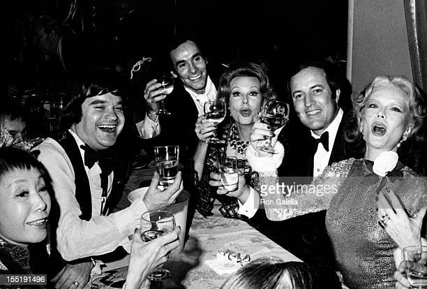 Arlene Dahl Monique Van Vooren and guests attend Brazilian Carnival Ball on February 24 1973 at the Waldorf Astoria Hotel in New York City
