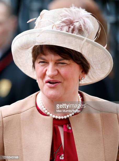 Arlene Foster First Minister of Northern Ireland attends the Commonwealth Day Service 2020 at Westminster Abbey on March 9 2020 in London England The...