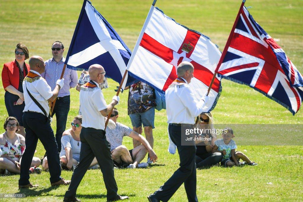 GBR: Arlene Foster Leads The Grand Orange Lodge Of Scotland Parade