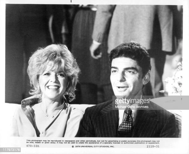 Arlene Golonka and Richard Benjamin pretend to have a good time in a scene from the film 'The Last Married Couple in America' 1980