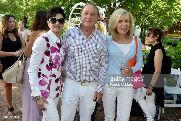 Arlene Lazare, Allan Lazare and Shelley Goldberg attend the Private Hamptons Preview of The Ritz-Carlton Residences, Sunny Isles Beach at Kozu on...