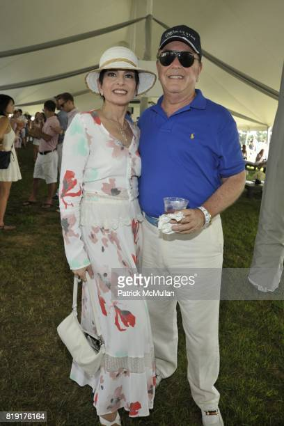 Arlene Lazare and Alan Lazare attend Mercedes-Benz Polo Challenge Opening Weekend at Blue Star Jets Field at Two Trees Farm on July 24, 2010 in...