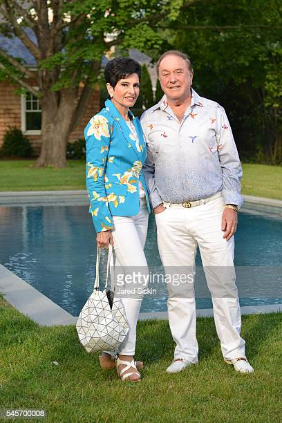 Arlene Lazare and Allan Lazare attend AVENUE On The Beach Celebrates July Issue at Private Residence on July 8, 2016 in Southampton, NY.