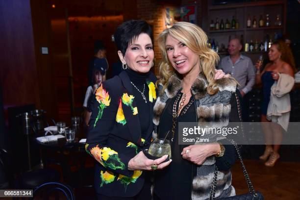 Arlene Lazare and Ramona Singer attend Bitches Who Brunch: Debra's Birthday Edition on April 9, 2017 in New York City.