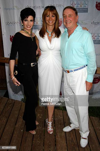 Arlene Lazare, Jill Zarin and Alan Lazare attend Help for Orphans International Summer Benefit at Nova's Ark Project on July 25, 2008 in Watermill,...