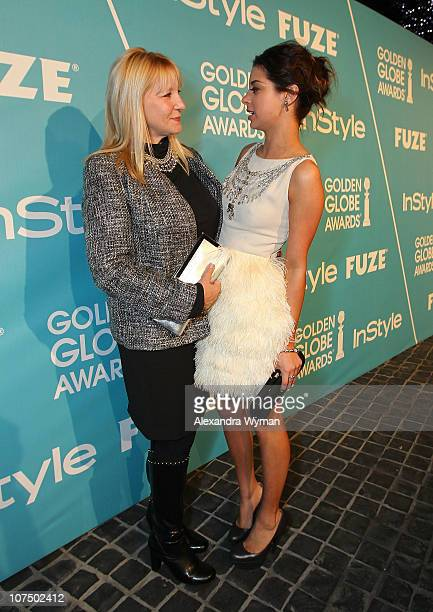 Arlene Mantegna and Miss Golden Globe 2011 Gia Mantegna attend the Miss Golden Globes Party hosted by InStyle and the Hollywood Foreign Press...