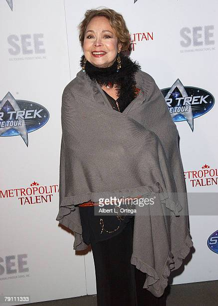Arlene Martel arrives at Star Trek The Tour Opening Night Gala at the Queen Mary Dome on January 17 2008 in Long Beach California