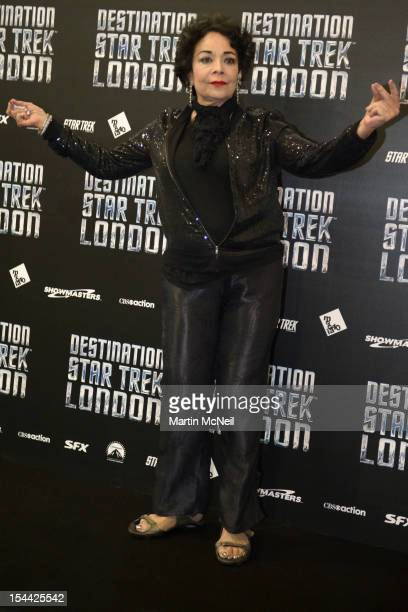 Arlene Martel attends a photocall at Destination Star Trek London at ExCel on October 19 2012 in London England