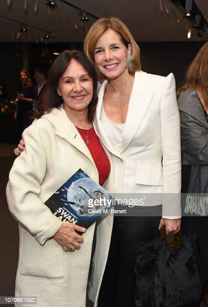 Arlene Phillips and Darcey Bussell attend the press night performance of 'Swan Lake' at Sadlers Wells Theatre on December 9 2018 in London England