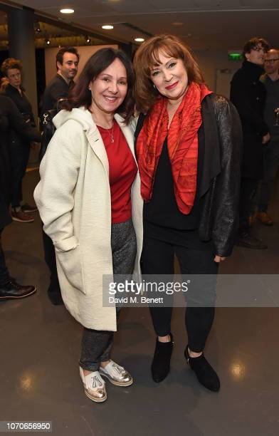 Arlene Phillips and Harriet Thorpe attend the press night performance of 'Swan Lake' at Sadlers Wells Theatre on December 9 2018 in London England