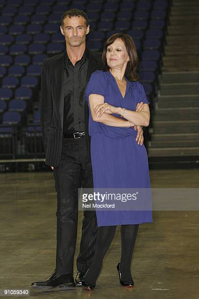 Arlene Phillips and Marti Pellow attend a photocall to launch 'Sacred Flame' show which Phillip is choreographing and directing at O2 Arena on...