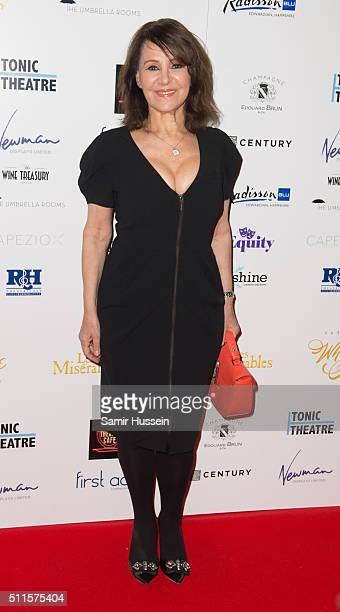 Arlene Phillips arrives for the WhatsOnStage Awards at Prince Of Wales Theatre on February 21 2016 in London England