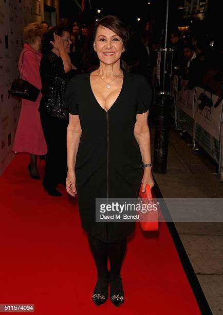 Arlene Phillips attends the 16th Annual WhatsOnStage Awards at The Prince of Wales Theatre on February 21 2016 in London England