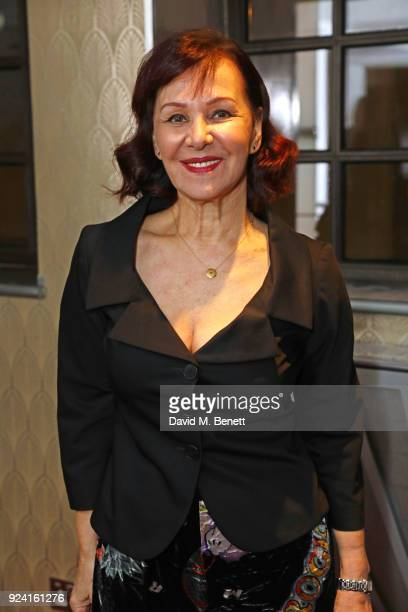 Arlene Phillips attends the 18th Annual WhatsOnStage Awards at the Prince Of Wales Theatre on February 25 2018 in London England