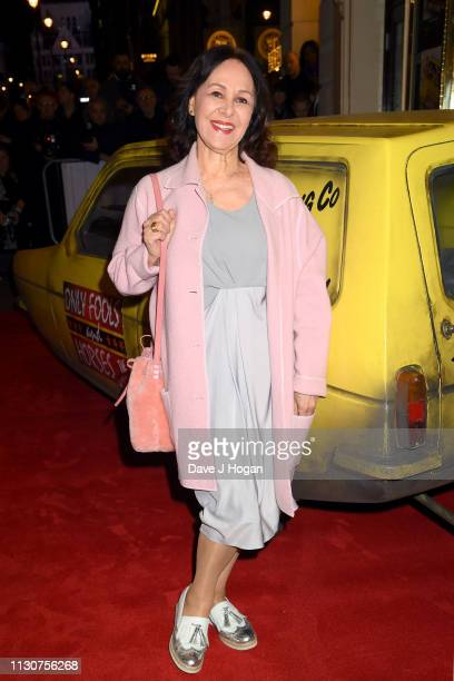 Arlene Phillips attends the opening night of Only Fools and Horses The Musical at Theatre Royal Haymarket on February 19 2019 in London England