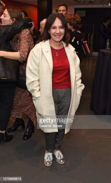Arlene Phillips attends the press night performance of 'Swan Lake' at Sadlers Wells Theatre on December 9 2018 in London England