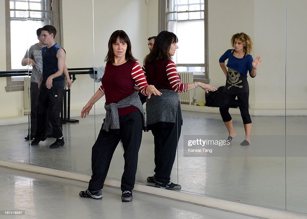 Arlene Phillips choreographs and leads rehearsals of a dance routine to be performed at the Olivier Awards 2013, at The Old Finsbury Town Hall on April 25, 2013 in London, United Kingdom. The Olivier Awards 2013 with MasterCard are due to be held at the Royal Opera House on Sunday 28 April.