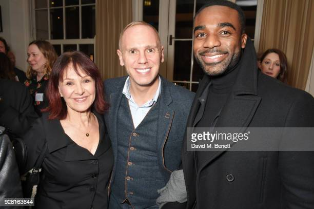 Arlene Phillips Robert Rinder and Ore Oduba attend the launch of InterTalent Rights Group at BAFTA on March 6 2018 in London England