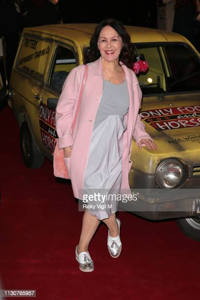 Arlene Phillips seen attending the Only Fools and Horses press night at Theatre Royal Haymarket on February 19 2019 in London England