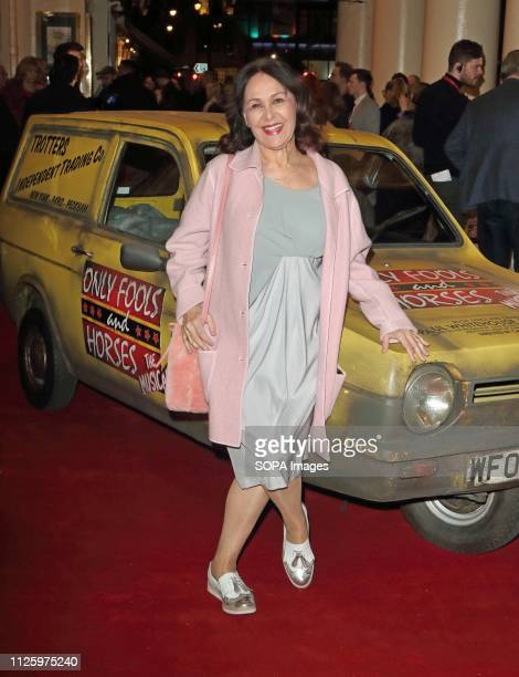 Arlene Phillips seen during the Only Fools and Horses Press night at the Theatre Royal Haymarket in London