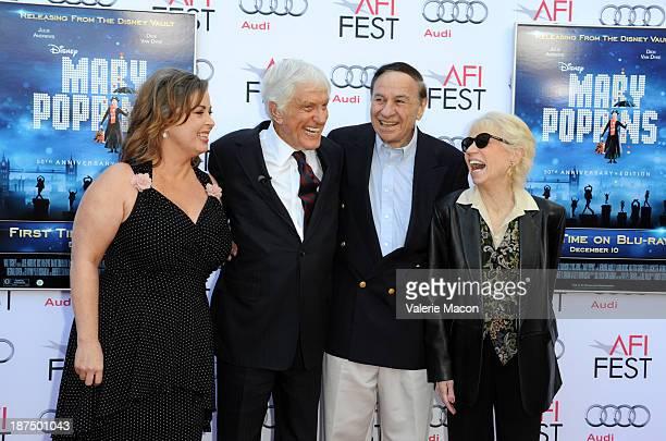 Arlene Silver actor Dick Van Dyke composer Richard M Sherman and Ursula Elizabeth Sherman attend the 50th anniversary commemoration screening of...