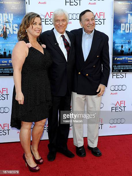 Arlene Silver actor Dick Van Dyke composer Richard M Sherman attend the 50th anniversary commemoration screening of Disney's 'Mary Poppins' during...
