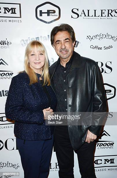 Arlene Vrhel and honoree actor Joe Mantegna attend the 2nd Annual Borgnine Movie Star Gala at Sportman's Lodge on February 1 2014 in Studio City...