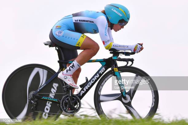 Arlenis Sierra of Cuba and Astana Women's Team / during the 21st Boels Rental Ladies Tour 2018, Stage 6 a 18,6km Individual Time Trial stage from...